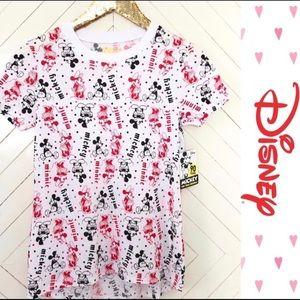DISNEY MICKEY & MINNIE WHITE TOP